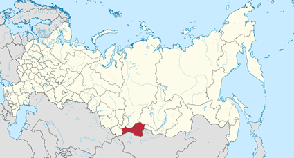 Map of Tuvans-Todzhans in Russia
