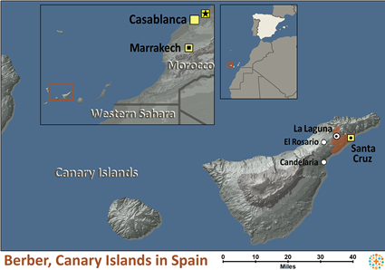 Map of Berber, Canary Islands in Spain