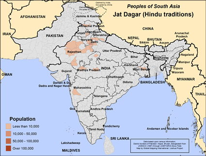 Jat, Dagar, Hindu in India