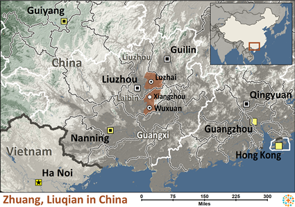 Map of Zhuang, Liuqian in China