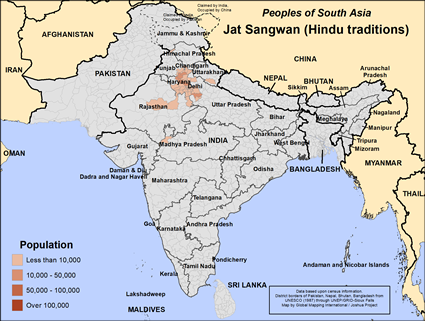 Jat, Sangwan in India