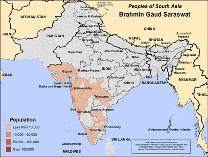 Brahman, Gaud Saraswat in India