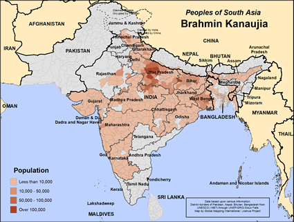 Brahmin Kanaujia in India
