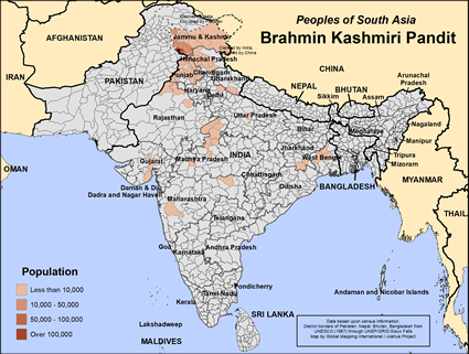 Brahmin, Kashmiri Pandit in India