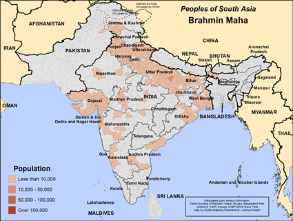 Map of Brahmin Maha in Nepal
