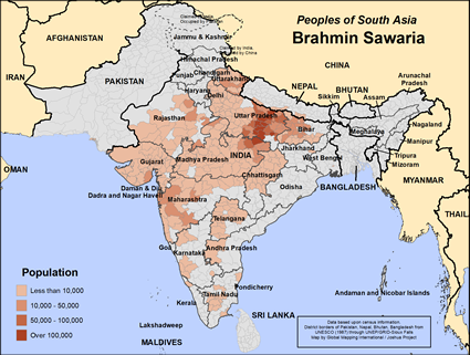 Map of Brahmin Sawaria in India