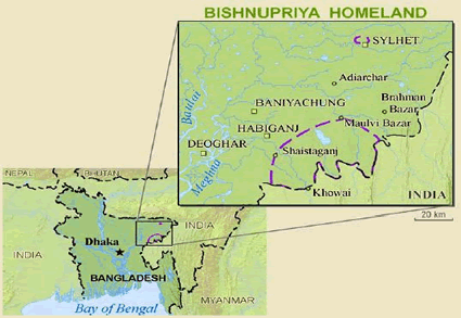 Bishnupuria in India