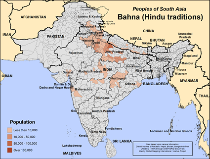 Map of Bahna (Hindu traditions) in Nepal