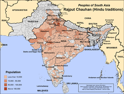 Rajput Chauhan (Hindu traditions) in India