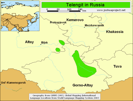 Map of Telengit in Russia