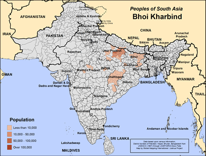 Map of Bhoi Kharbind in Nepal