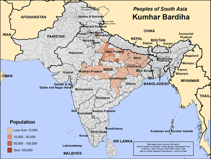 Map of Kumhar Bardiha in India