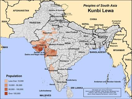 Map of Kunbi Lewa in India