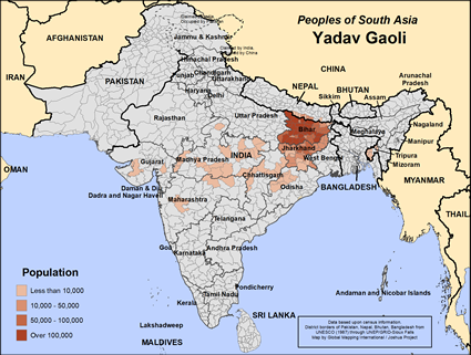 Map of Yadav Gaoli in India