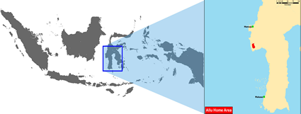 Map of Allu in Indonesia