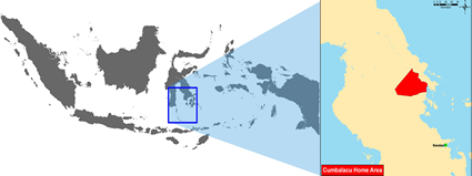 Map of Cumbalacu in Indonesia