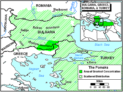 Pomak of Macedonia map