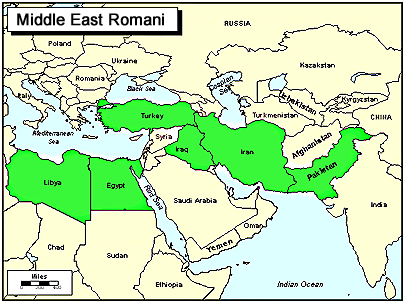 Romani, Vlax of Bulgaria map
