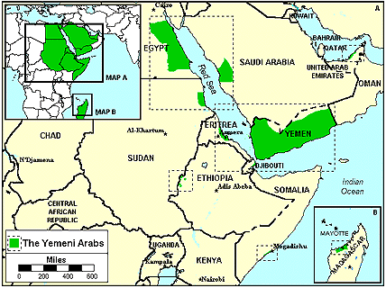 Arab, Yemeni of United Kingdom map