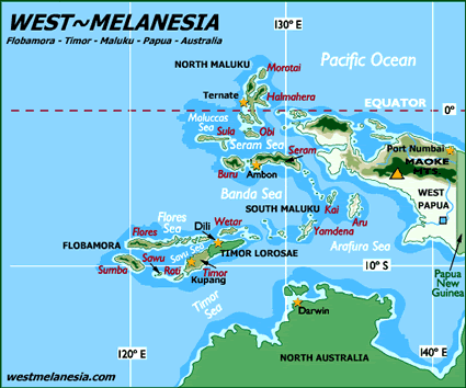 Ambelau of Indonesia map