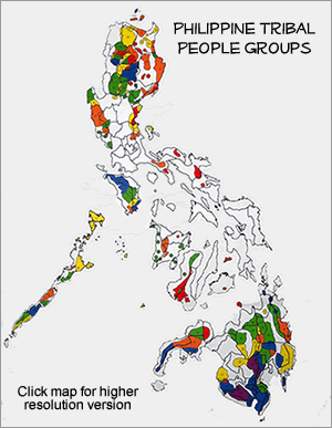 Negrito, Palawan Batak of Philippines map