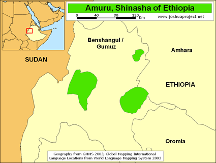 Shinasha of Ethiopia map