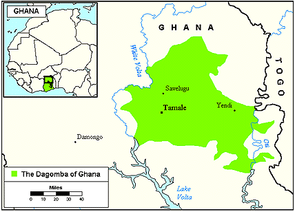 Dagomba of Ghana map