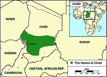 Hausa of Chad map