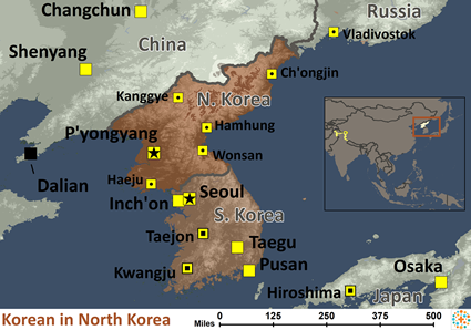Korean of Korea, North map