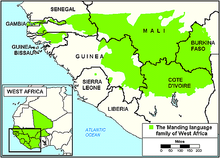 Maninka, Mandingo of Sierra Leone map