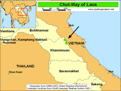 Chut-May of Laos map
