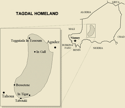 Iberogen, Igdalen of Niger map