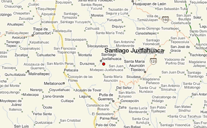 Mixteco, Juxtlahuaca Oeste of Mexico map