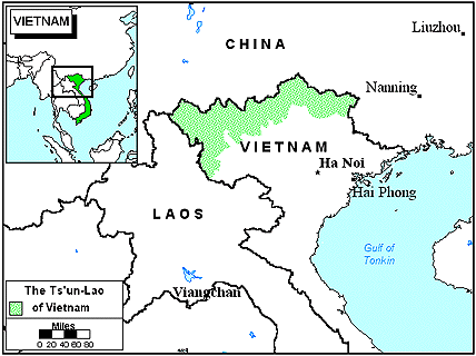 Tsun-Lao of Vietnam map