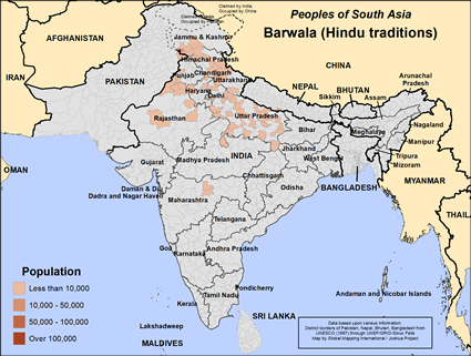 Barwala, Hindu of Pakistan map
