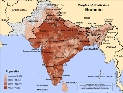 Brahman of Afghanistan map