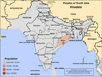 Khadala of Bangladesh map