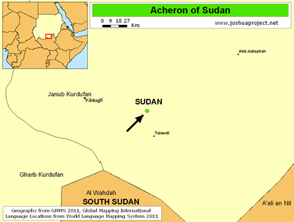Acheron of Sudan map